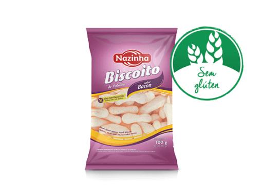 Biscoitos de amido de mandioca com sabor de bacon